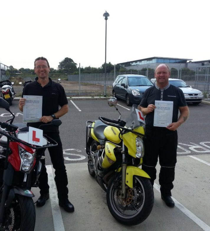 Jo and Mike are very delighted  students  they have both  just passed first time and are now looking forward to going bike hunting
