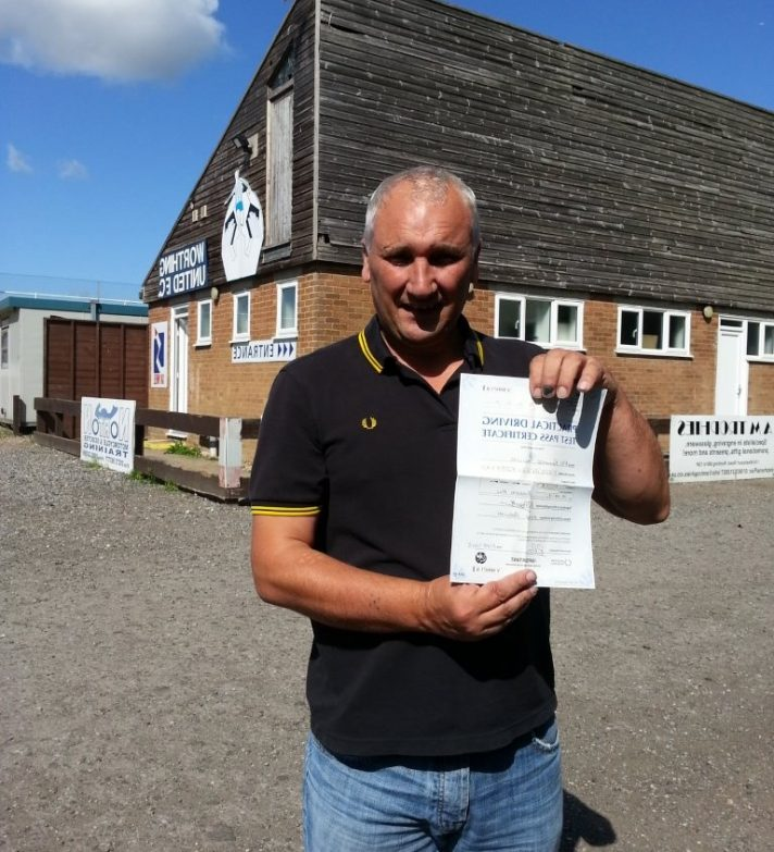 Richard passed first time and is now looking forward to riding out with his sons
