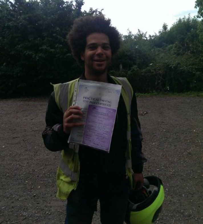 Anthony passed first time today even after  a stressful start to the day, enjoy your new bike