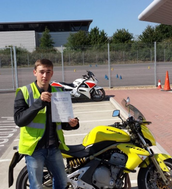 Ciaran passed first time today and was going home to a SV650s which he will need when he goes to Uni in mid Wales. He hopes to be a fast jet pilot with the RAF and become a Red Arrow Pilot.