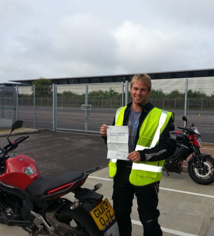 Keon passed first time and is now going off to ride round Belgium