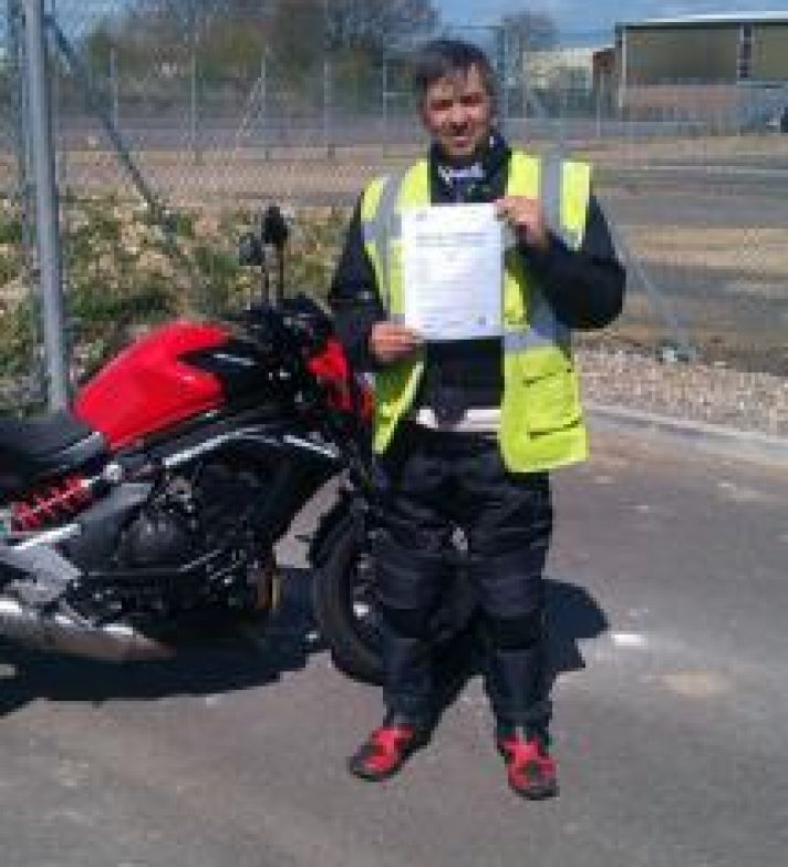 Keith Lloyd passed having had a break from training for 6 months then just one days training and passed with 1 minor well done