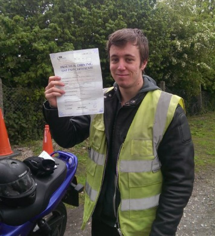 Congratulations to Lawrence Trousdale-Smith who passed his test first time yesterday, later spied at the local bike shop