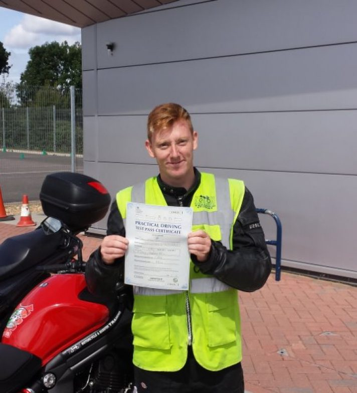 Shaun who passed first time today is looking to get a Triumph America in the future but will get something a little cheaper first.
