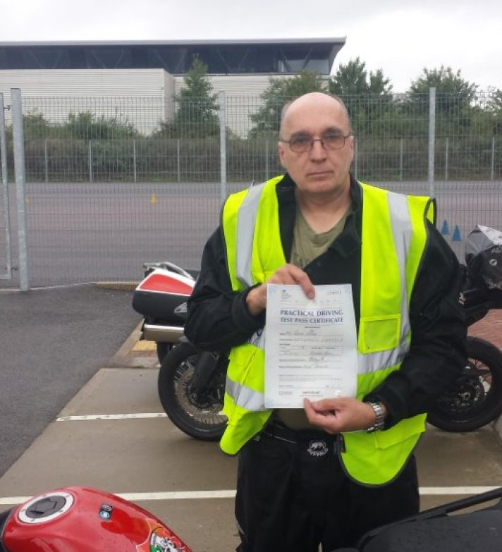 Well done to a very nervous Peter who passed first time today and has a Bandit 1200 waiting for him
