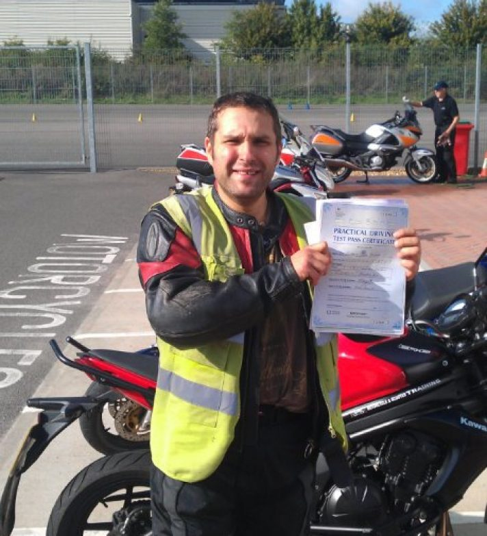 Lancing Cafe (next to Asda) owner Anthony joins the Norton family with a 1st time pass. Visit him and talk bikes!
