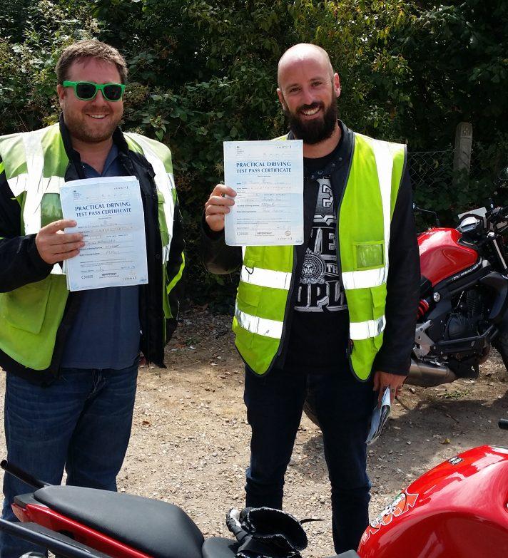 Nick and Joe both passed first time today,  well done