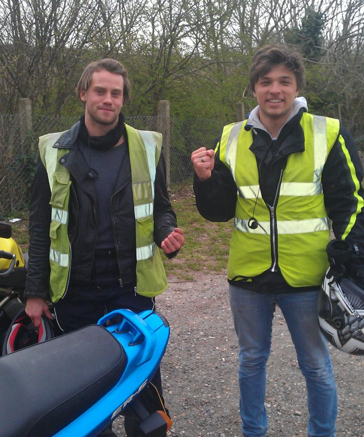 What do you get when you put a student and a Mobylette rider together? Two passes! well done Alistair and Josh!