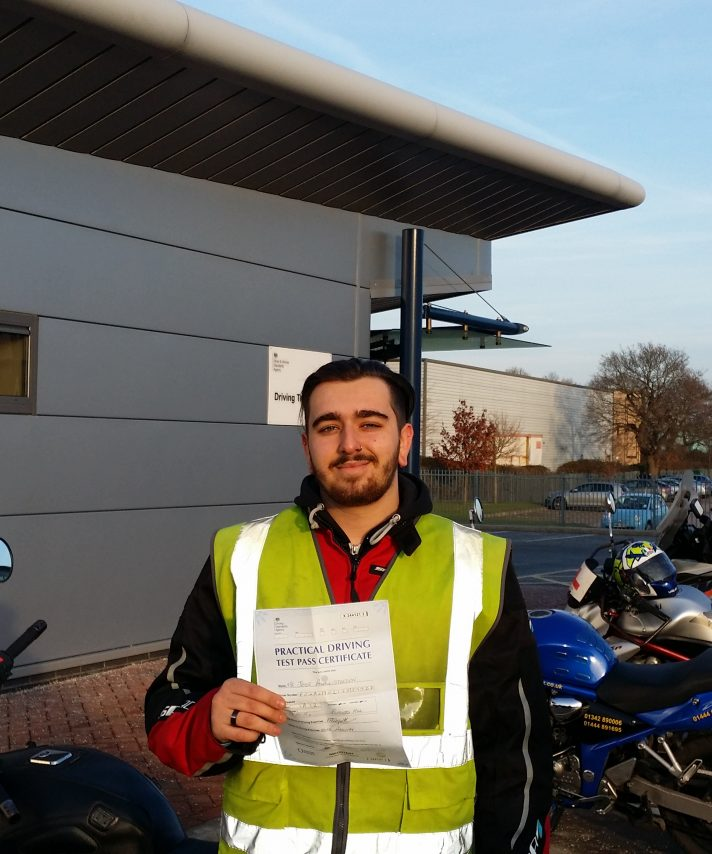 Jesse passed today well done and is of the buy an er5,  as his only for of transport his first accessory will be heated grips