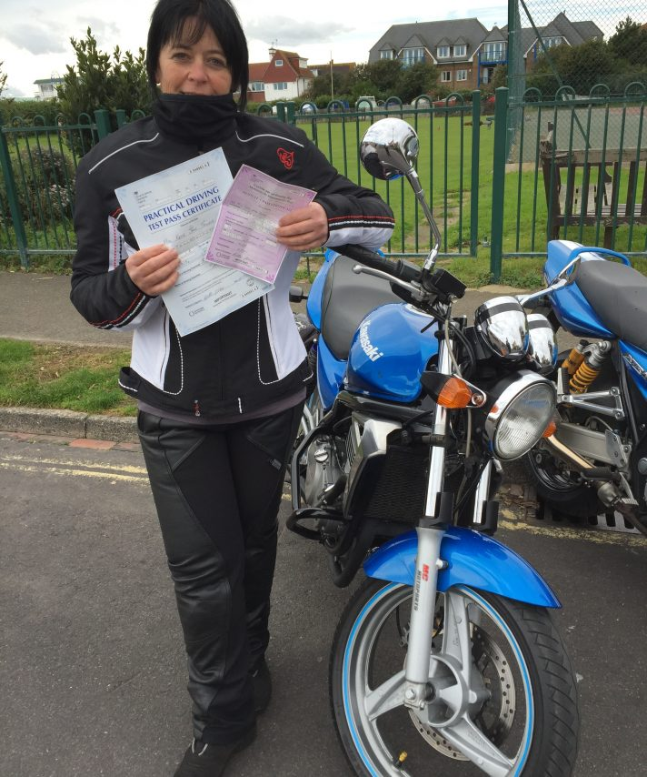Well Done Kat ..Pic of me and my bike as requested by Nigel , just wanted to say a big thank you to you both and Heather I had a fab 4 days . Your all so easy to get on with and relaxed I had a real giggle and learnt a lot.